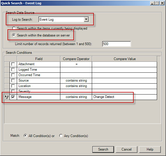 ControlLogix Change Detect Review Change Log This portion of the lab will view previously generated Change Detect reports and controller logs pushed to the Audit Log.