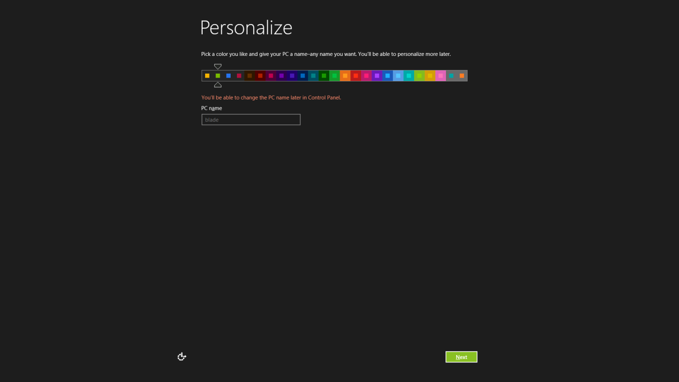 4. Personalize your Windows 8 Choose your preferred