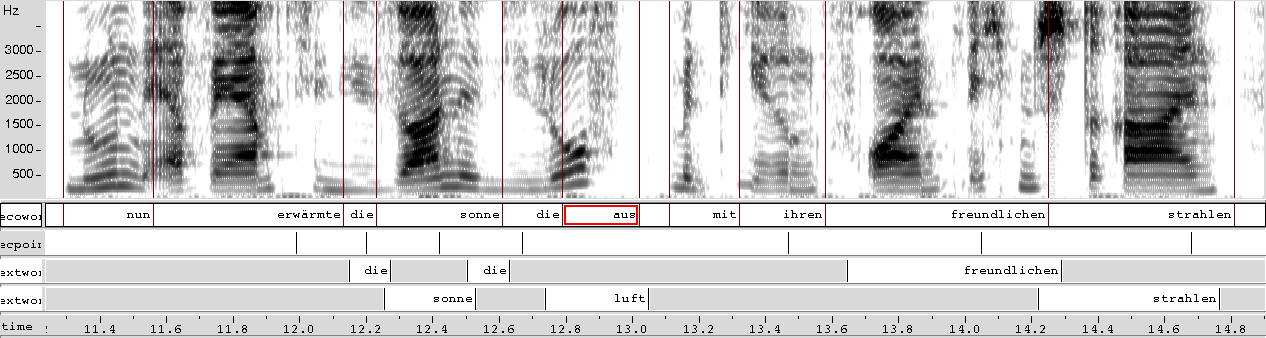 6.2 Micro-Timing Prediction Figure 6.12: Example of shadowing with live input (verena2nord2).