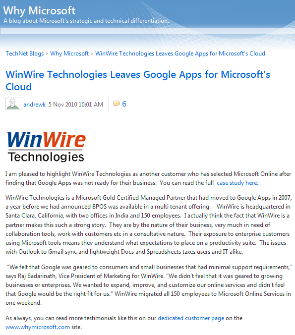 Resources: WhyMicrosoft.