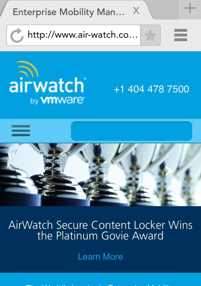 end-user needs with AirWatch Mobile Browsing Management AirWatch