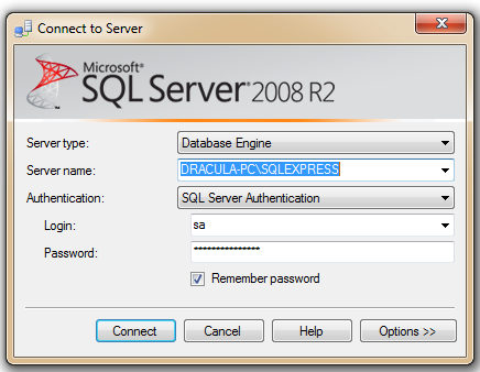 Step 4. Backup of a Coffalyser.Net database using SQL Management Studio 4.