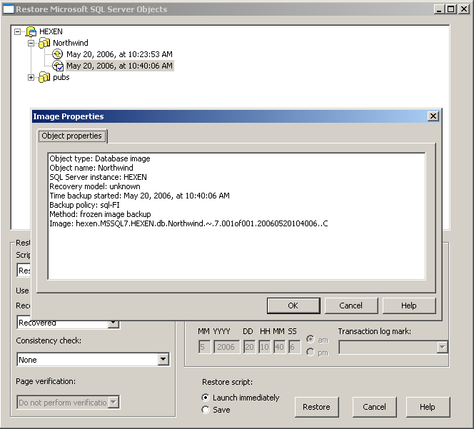 Using NetBackup for SQL Server with Snapshot Client How SQL Server operations use Snapshot Client 149 Client.
