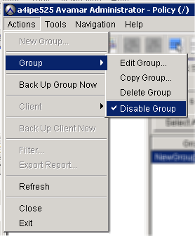 Backup Perform this step only if a check mark appears next to the Disable Group menu option. Monitoring backups A confirmation message appears. 7. Click Yes to enable this group. 1.