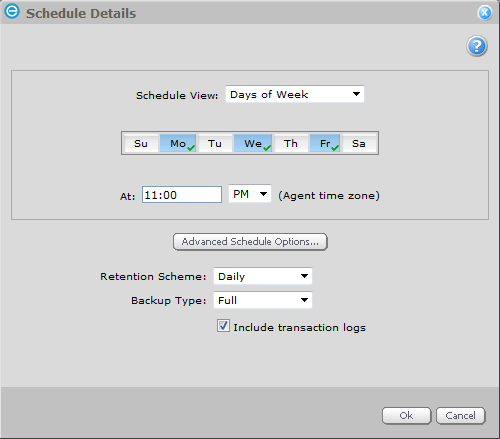 9. Choose a Schedule for the Job or click Add to create a