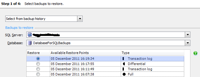 Chapter 8: Database Backup and Restore with SQL Backup Pro Figure 8-16: Restore the latest transaction log file.