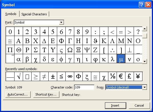 You can use the character map to select, copy and paste special characters into text, as needed. Note that the character map will vary slightly with different versions of Windows.