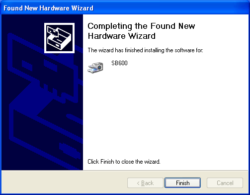 Fig. 4 Fig. 5 f) The Hardware Installation window will appear, this is normal and to be expected. (Fig. 4) g) Select the Continue Anyway then the Finish button to finalize your scanner installation.