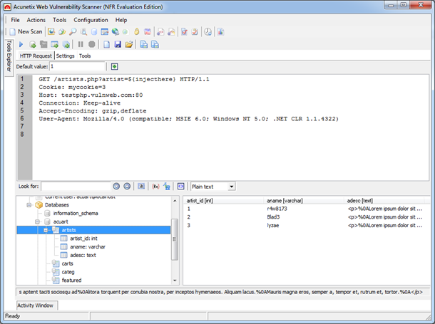 Blind SQL Injector Screenshot Blind SQL Injector Ideal for penetration testers, the Blind SQL injector is an automated database data extraction tool with which you can make manual tests to further
