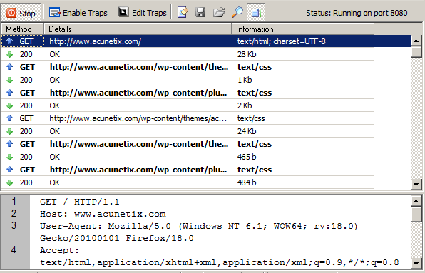 HTTP Sniffer Screenshot HTTP Sniffer The HTTP Sniffer acts as a proxy and allows you to capture, examine and modify HTTP traffic between an HTTP client and a web server.