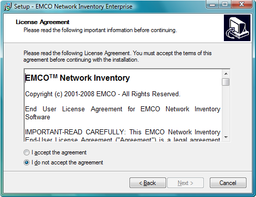 Installing on the Local Machine 3 Installing on the Local Machine EMCO Network Inventory needs to be installed on just one machine in your network.