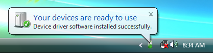 The Driver Software Installation (32bit driver) 2 5. When the installation of the driver is completed, determine the driver in accordance with the instructions in the search wizard.