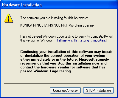 3 The Driver Software Installation (64bit driver) Windows XP Professional x64 Edition (64bit) 1. Turn on the scanner. 2. Use the USB cable to connect the scanner to the computer. 3.