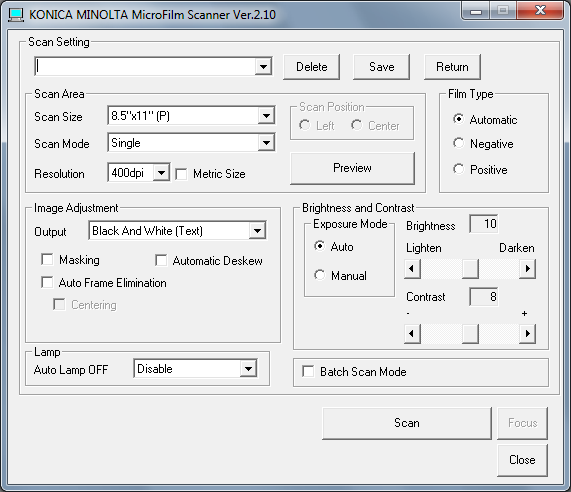 4 The MS6000 MKII TWAIN Driver User s Guide 4 The MS6000 MKII TWAIN Driver User s Guide 4-1 The MS6000 MKII Scanner User Interface Setup By installing a TWAIN compatible application on a personal