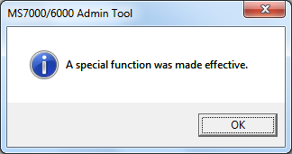 6 Special Function 1. Double-click the MS7000_6000AdminTool.exe, the tool for the administrator which is installed in the C:\Windows\twain_32 folder.