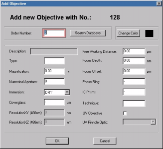 "Software: Data Recording Functions "" Select the Objectives option from the Tools menu."