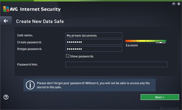 functionality. Single click to switch between two positions. The green color stands for Enabled, which means that the AntiVirus security service is active and fully functional.