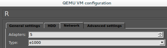 Inserting RouterOS image in GNS3 VM name Memory Path to