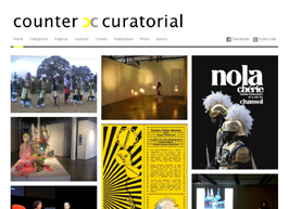 G r a p h i c D e s i g n / l o g o & W e b s i t e http://www.countercuratorial.com/ (not online yet!) Logo and website design for countercurarorial.
