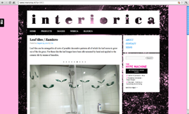 G r a p h i c D e s i g n / w e b s i t e http://www.interiorica.nl/ The concept for interiorica s website is based on guiding the visitor through the website by means of images.
