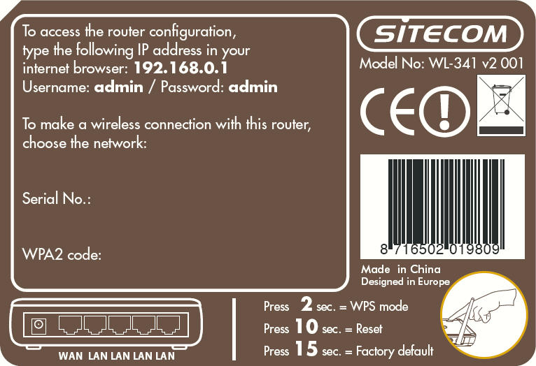 Back label The back label describes the corresponding LED indications and port functionality.