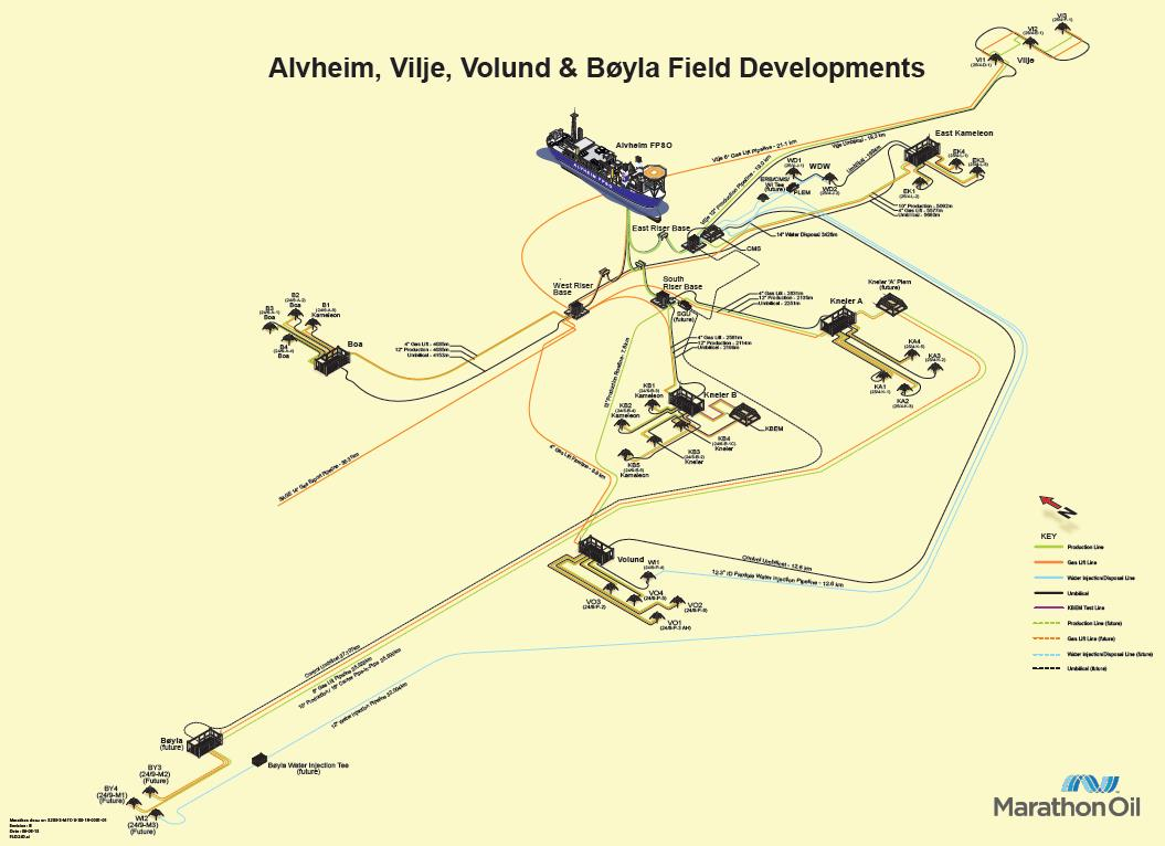 Overall Field Layout Status at 27 th October 2014 Available for production