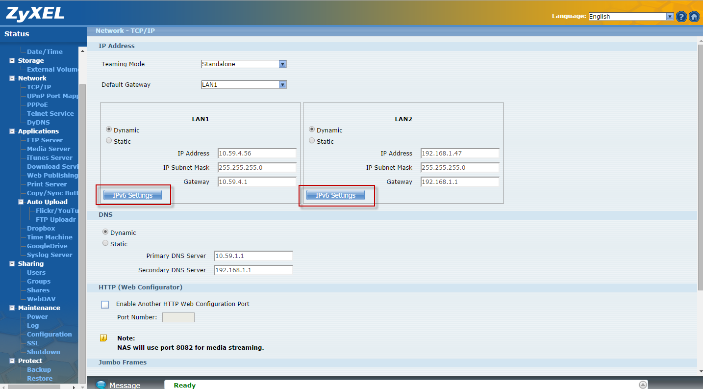 Select the LAN interface to use as the default gateway.