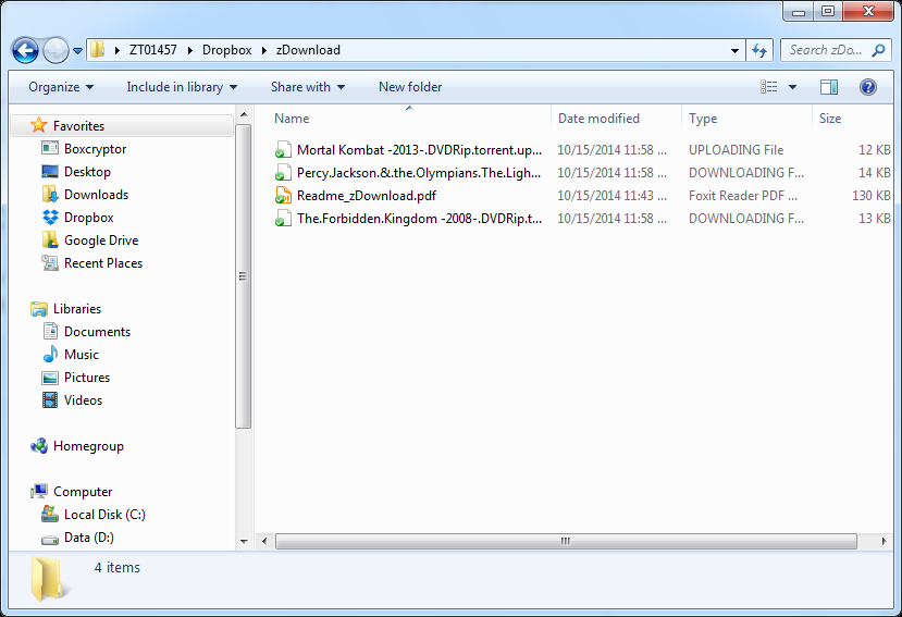 Check files on NAS 4.4 Using the zdownload Folder The NAS copies *.