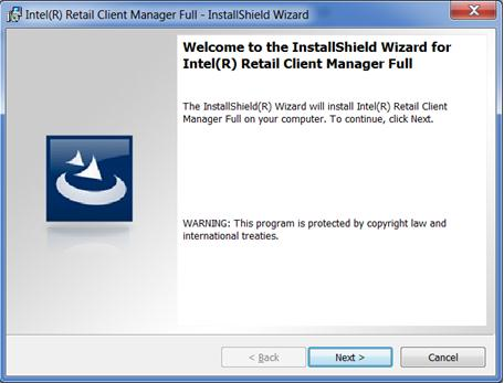 Figure 2 InstallShield welcome page Read and accept the license agreement by clicking