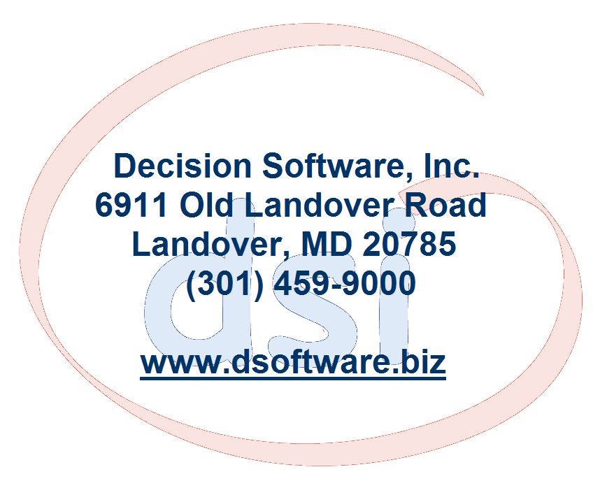 The information contained herein is proprietary to Decision Software, Inc.
