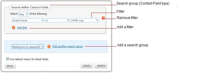 Steps 1. On the Contacts tab, ensure that the contact fields you want to use in the filter are shown as columns in the contact list.