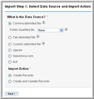 Chapter 4 Importing and Exporting Data During import, ensure that you correctly map the names of the incoming fields with the names of the corresponding Sugar fields.