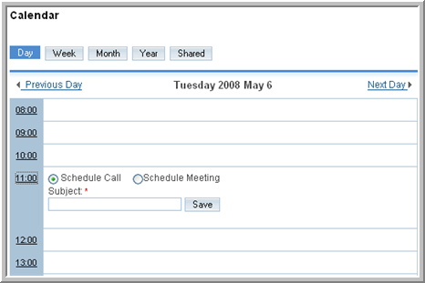 Chapter 3 Using Sugar Calls. Click this option to view and manage calls as described in To manage calls and meetings on page 43. Meetings.