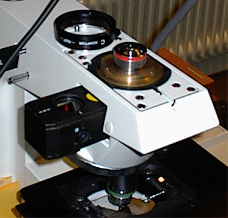 MODIFICATIONS TO THE MICROSCOPE SYSTEM 47 Princeton Versarray 512B Back Illuminated CCD Zeiss Axioskop INVERTED Zeiss FLUAR 5x /.25 WD = 9.3 mm Zeiss FLUAR 2x /.