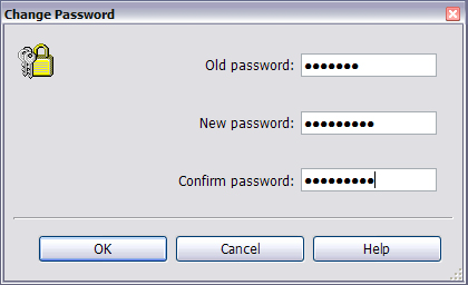 4.3 Change the User Password Getting Started With Liebert Nform The Change Password menu item allows users to change their own passwords at any time, as long as they have permission to do so.