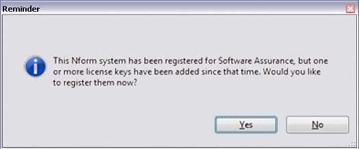 4.4 Enter the License Key Getting Started With Liebert Nform A Liebert Nform license key must be installed for full use of Liebert Nform s features, as described in the following steps.