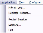 5.2 Register Product Using the Application Menu This menu item allows you to register if the Nform system has never been registered or the registration has expired or will expire within 60 days (see