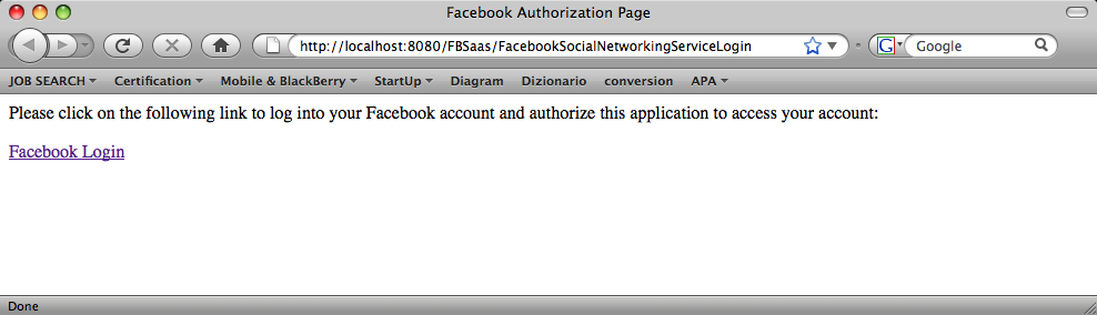 Run On FBSaas project, right