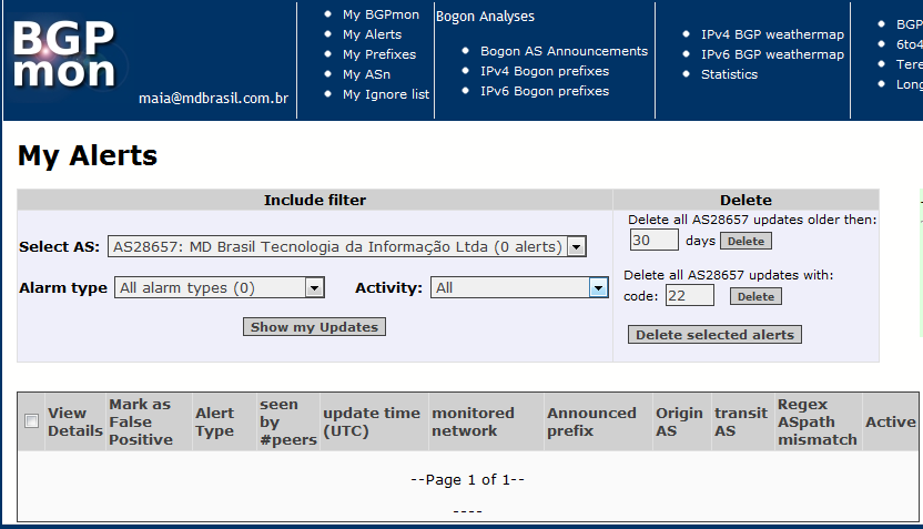 2) Monitor your prefixes (and much more) with BGPMon Can we