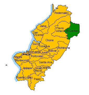 1. PHYSICAL LOCATION The province of Manabí is located in central coastal region whose population exceeds 2,200,000 inhabitants has an area of 18,878.8 km2 formed by 24 cantons divided politically. 1.1 MACRO - LOCATION.