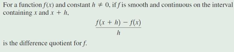 Formulas Distance Formula Midpoint formula Slope of Line The Difference Quotient Even Functions Odd
