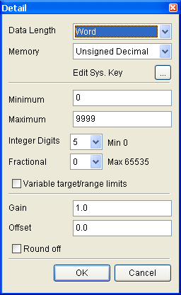 Trigger Trigger Type Property Description of Numeric Entry Elements The user can use this setting to trigger the designated controller address to be ON before or after writing the setting value.