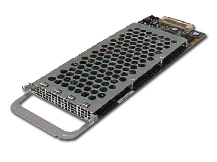 Cisco AS5400 Series 60- and 108-Universal Port Feature Cards Figure 5 Cisco AS5400 Series 60- and 108-port Feature Card The Cisco AS5400 Series 60- and 108-universal port cards are full-featured