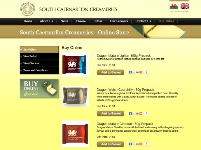 E-commerce - direct to consumer opportunities for suppliers South Caernarfon Creameries is a leading farmer owned dairy co-operative, which is based in North West Wales.