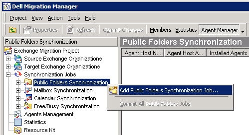 Public Folder Synchronization Public folder synchronization should be started before mailbox migration and before calendar and free/busy synchronization.