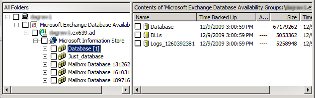 Performing backups and restores of Exchange Server, mailboxes, and public folders About restoring Exchange database data 145 6 In the Specify NetBackup Machines and Policy Type dialog box, provide