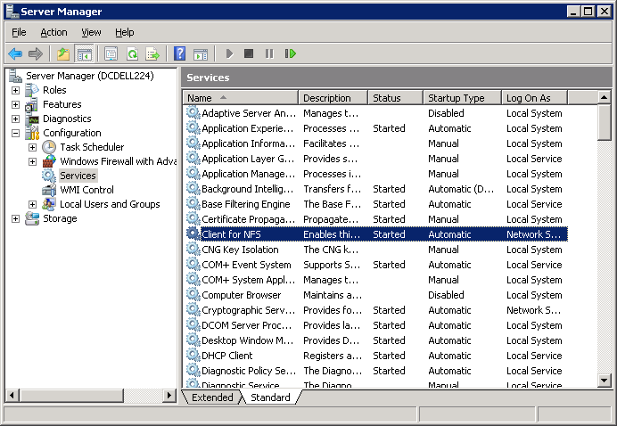 42 Exchange Granular Recovery About configuring Services for Network File System (NFS) on the Windows 2008 and Windows 2008 R2 NetBackup media server and NetBackup