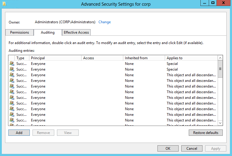 4. Do one of the following depending on the OS: On pre-windows Server 2012 versions: a. Click Add.