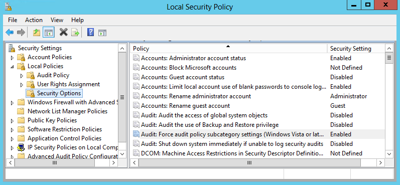 To configure Advanced audit policy on Windows Server 2008 R2 / Windows 7 and above In Windows Server 2008 R2 and Windows 7 and above, Advanced audit policies are integrated with Group Policies, so