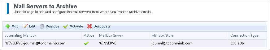 More than one method of archiving can be selected. For example, you can enable Manual Archiving and Auto-Archiving (Journaling) of All Emails at the same time. 4. Click Save. 7.